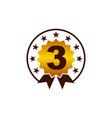 emblem best quality number 3 vector image vector image