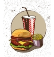 Fast food poster in retro pop art style vector image vector image