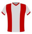 flag t-shirt of peru vector image