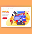 Flight tickets search booking service web banner