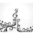 floral music theme vector image