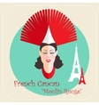French cabaret cancan Moulin Rouge icon vector image vector image