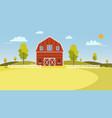 fresh farm landscapesummer farm landscape vector image vector image