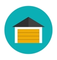 Garage icon flat vector image vector image