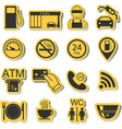 Gas station icons Fuel icons Stickers vector image vector image