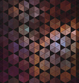 Geometric hexagon abstract background vector image