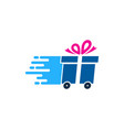 gift delivery logo icon design vector image vector image