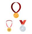 gold and award symbol set vector image
