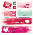 grungy valentines vector image vector image