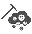 happy cloud mining flat icon vector image