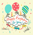 happy greeting birthday card vector image vector image
