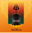 happy maha shivratri festival backgrond with vector image vector image