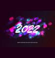 happy new 2022 year vector image