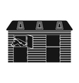 Horse stable icon in black style isolated on white vector image vector image