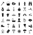 hydrant icons set simle style vector image vector image