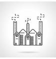 Industrial building flat line icon vector image vector image