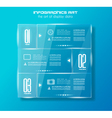 infographic design template with glass surfaces vector image vector image