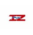 iZ company logo vector image vector image