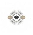 King Crown Logo Template Design Element vector image