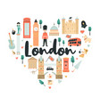 london abstract design with big ben tower vector image