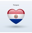 Love Paraguay symbol Heart flag icon vector image vector image
