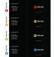m hexagon business card black vector image