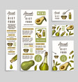 menu with avocado restaurant dietary vegetarian vector image vector image
