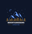 mountain expedition logo vector image vector image