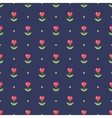 Neat seamless pattern with heart-shape flowers vector image