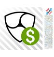 nem dollar flat icon with bonus vector image