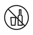 No Drinks vector image vector image