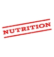 Nutrition Watermark Stamp vector image vector image