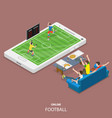 online football flat isometric concept vector image vector image