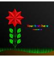 paper rainbow flower vector image