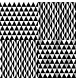 pattern geometric black vector image vector image