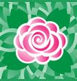 pink rose flower pattern on alternating leaves bac vector image vector image