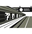 platform railway station vector image vector image