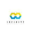polygon inifinity logo vector image vector image
