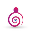 pregnant woman baby son stylized symbol vector image