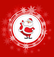 santa claus christmas festive background vector image vector image