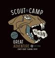 Scout camp emblem vector image