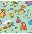 Seamless background with toys vector image vector image