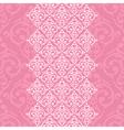 seamless pink frameborder in damask baroque style vector image vector image