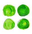 set green watercolour stains vector image