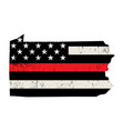 state pennsylvania firefighter support flag vector image vector image