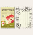 street food festival vector image vector image