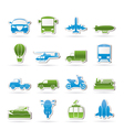 Transportation and travel icons vector | Price: 1 Credit (USD $1)