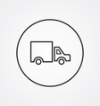 truck outline symbol dark on white background logo vector image vector image