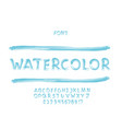 watercolor font alphabet vector image