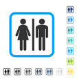 wc persons framed icon vector image vector image